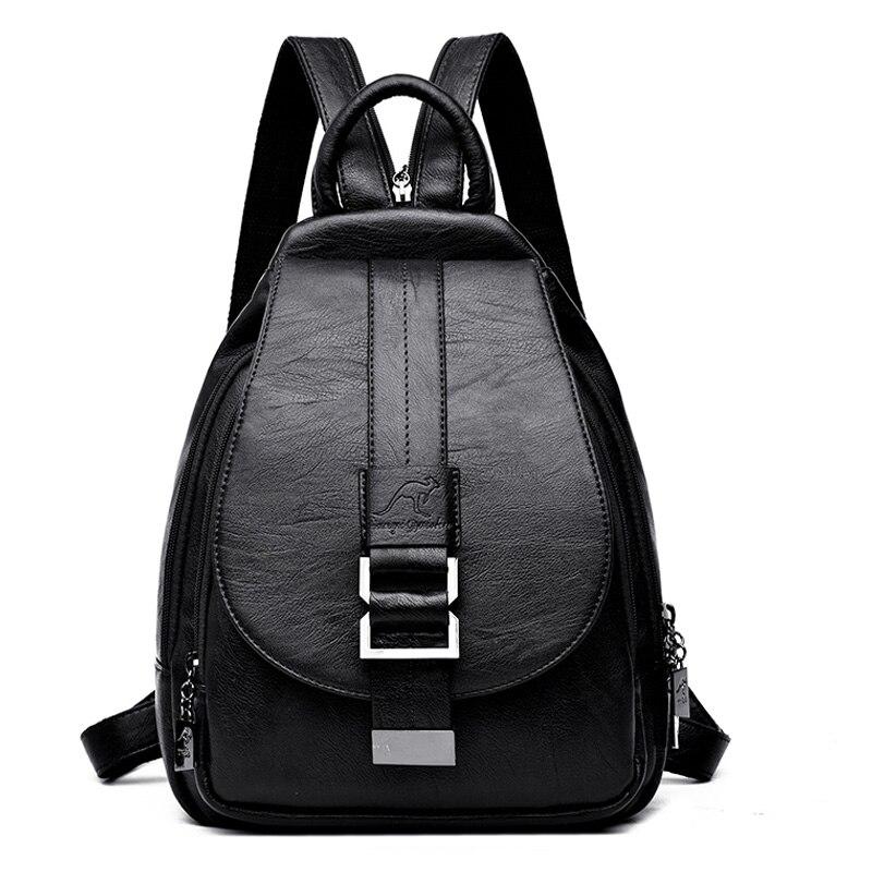 Image 3 - 2019 Designer Backpacks Women Leather Backpacks Female School Bag  for Teenager Girls Travel Back Bag Retro Bagpack Sac a DosBackpacks   -