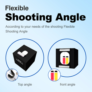 Image 3 - Yizhestudio photo box 40*40 cm LED Light box tabletop Shooting foldable Tent led studio box photobox for photography background