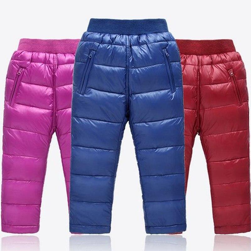 boys pants girls down children pants for girls winter children clothes kids leggings girl winter clothing boys trousers 2016