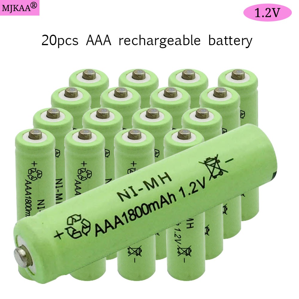 Hot sale 12pcs 20pcs <font><b>AAA</b></font> <font><b>1800mAh</b></font> 1.2 V Quanlity <font><b>Rechargeable</b></font> <font><b>Battery</b></font> <font><b>NI</b></font>-<font><b>MH</b></font> <font><b>1.2V</b></font> <font><b>Rechargeable</b></font> 3A <font><b>Battery</b></font> Baterias Bateria image