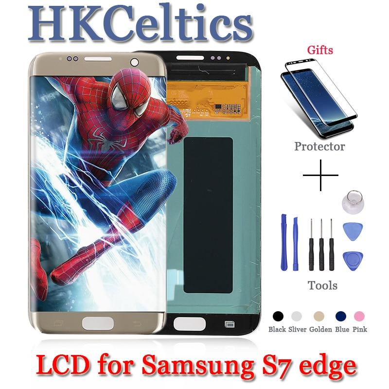 Écran LCD OLED + cadre pour SAMSUNG Galaxy s7 edge G935 G935F avec remplacement de l'assemblage de numériseur d'écran tactile