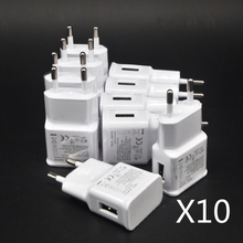 10 stks/partij 5V 2A EU Plug Muur Travel Charger USB Adapter Voor Samsung galaxy S5 S4 S6 note 3 2 voor iphone 7 6 5 HTC Huawei Xiaomi