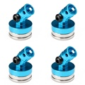 4pcs 1/10 Blue Alloy Magnetic Stealth Invisible Body Post Mount RC Car Boat Crawler