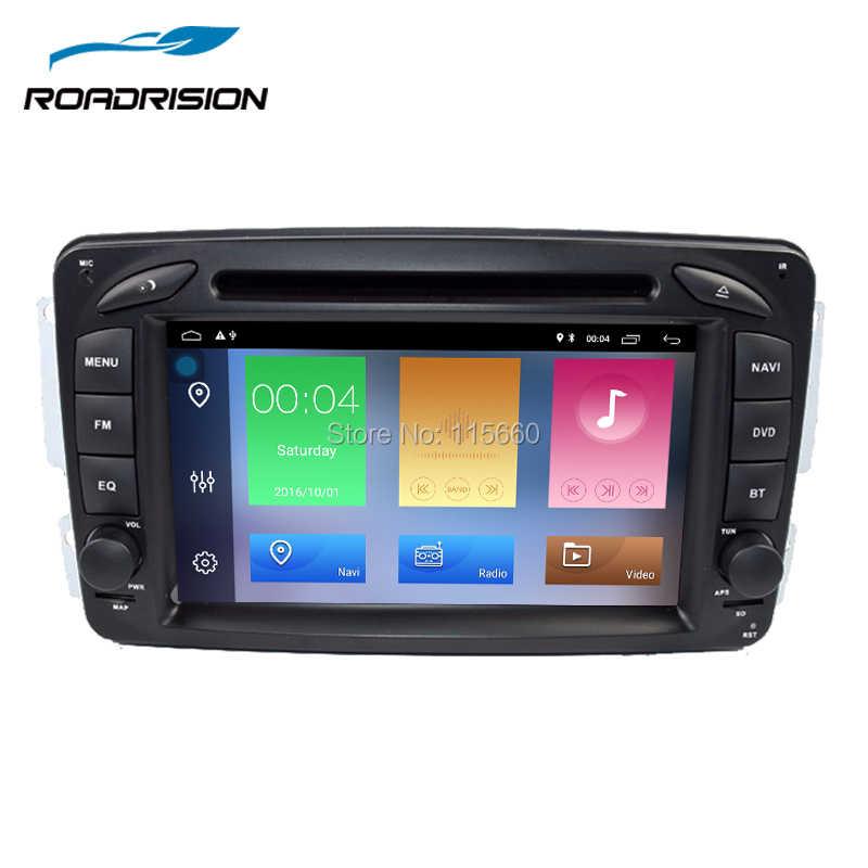 Roadrision Android 8,1 7 дюймов DVD gps навигация для Mercedes-Benz W209/W203/W168/M/ML/W163/W463/виано/W639/Вито/Vaneo Wi-Fi gps