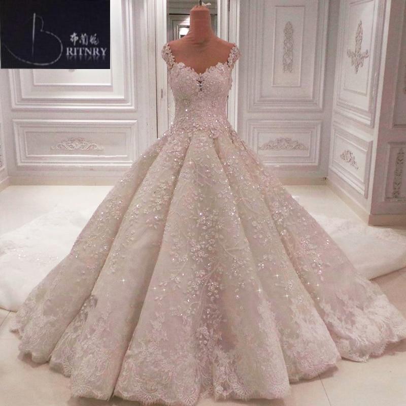 Vestido De Noiva 2018 Princess Wedding Dress Ball Gown Off: Luxury Appliques Lace Wedding Dress 2018 Sweetheart Off