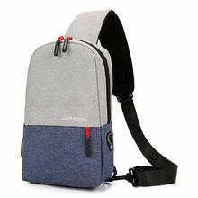Сумка через плечо унисекс холщовая спортивная сумка с usb зарядкой