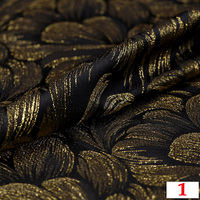HLQON High quality metallic yarn dyed brocade jacquard fabric used for dress women clothing tissue patchwork for 10 meters