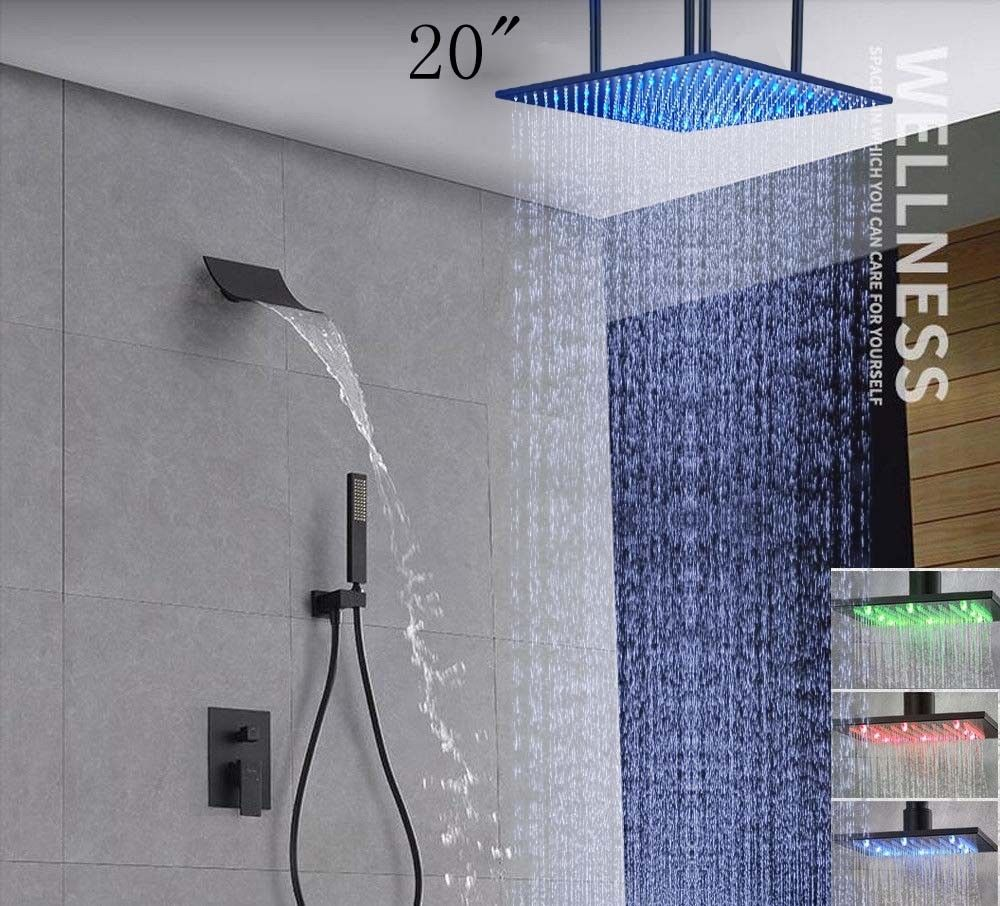 Led Large Shower Oil Rubbed Bronze Top Shower Heads 20