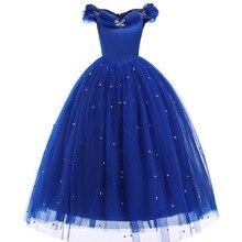 купить Princess Cinderella Girl Dress Kids Butterfly Sequined Cosplay Costume Children Halloween Birthday Party Pageant Wedding Dresses дешево