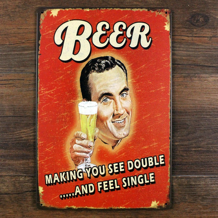 Metal signs Vintage plaques Retro decor BEER Drinking Tin art wall sticker home bar wall 20X30 CM Free shipping GY-00360