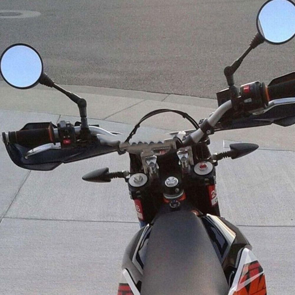 motorcycle mirror motorbike side rearview round moto folding mirrors 10mm custom universal racer 8mm bicycle moped scooters honda harley pair