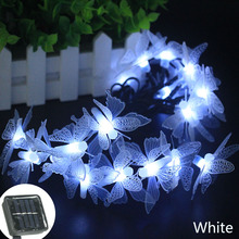 Colorful butterfly Solar Lamp Waterproof IP65 Christmas Holiday Outdoor Garden Decoration Fairy Battery String Light 2 mod