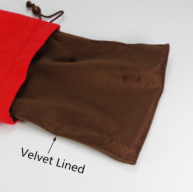 Joyous Red Linen Velvet Drawstring Bag Jewelry Travel Pouch Thicken Cloth Gift Packaging Bags Wedding Party Favor Bags in Jewelry Packaging Display from Jewelry Accessories