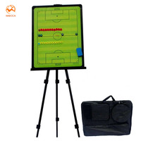 MAICCA Football Tactical Board with holder carry bag Professional Sports coaching board great big Soccer coach plate 46*61.5cm