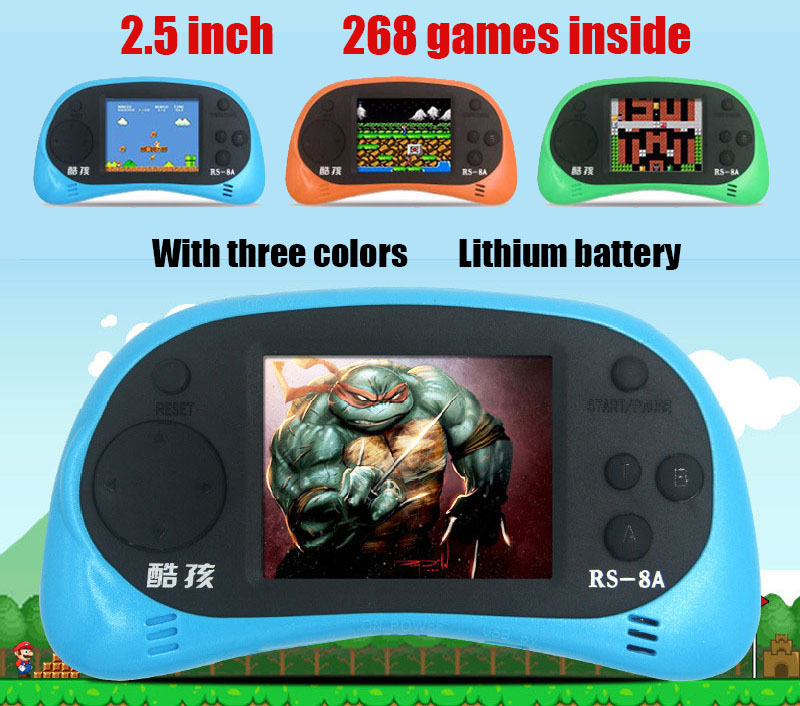 Original CoolBaby RS-8a 2.5 inch LCD 8bit NES Games Li-On Battery Portable Handheld Video Game Player classic Console Kids Toy