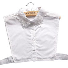 Exclusive white standing collar decoration white retr Decorative shirt fake collar wild cotton new sweater shirt
