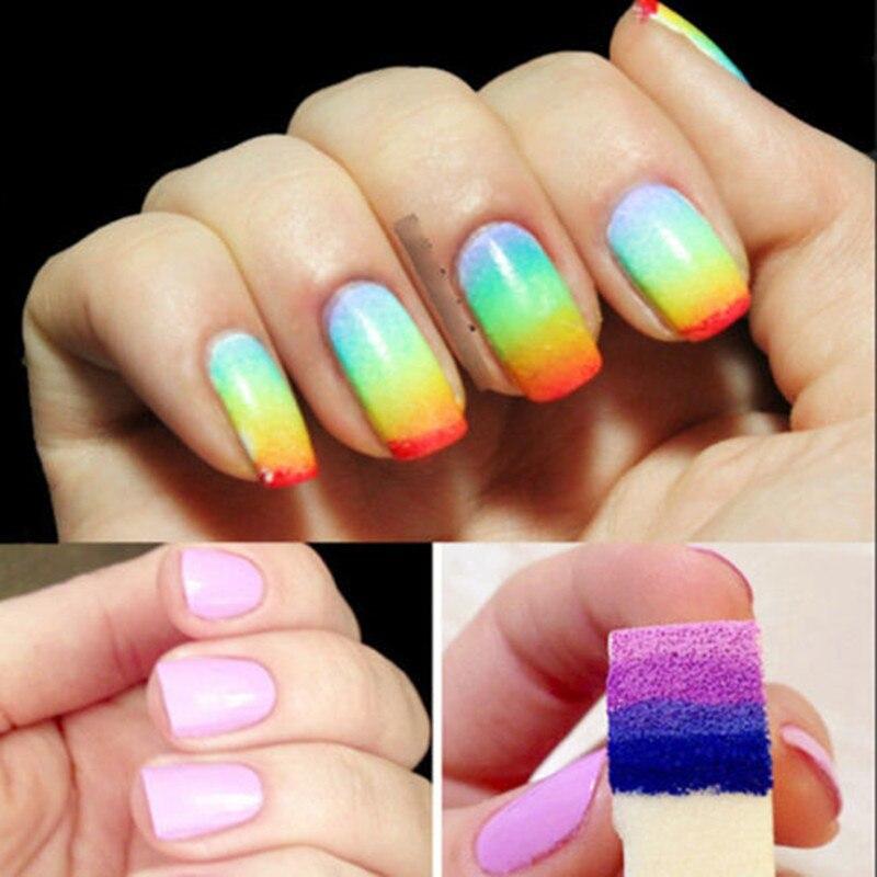 New 8Pcs New Woman Salon Nail Sponges for Acrylic Makeup Manicure ...