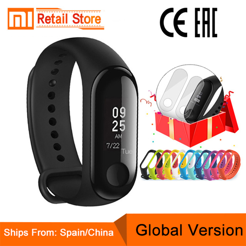 "2018 Globale Version Xiao Mi Mi Band 3 Fitness Tracker Smart Armband 0,78 ""oled Touchscreen 50 M Wasserdichte Mi Band 3 Xio Mi Band 3 Phantasie Farben"