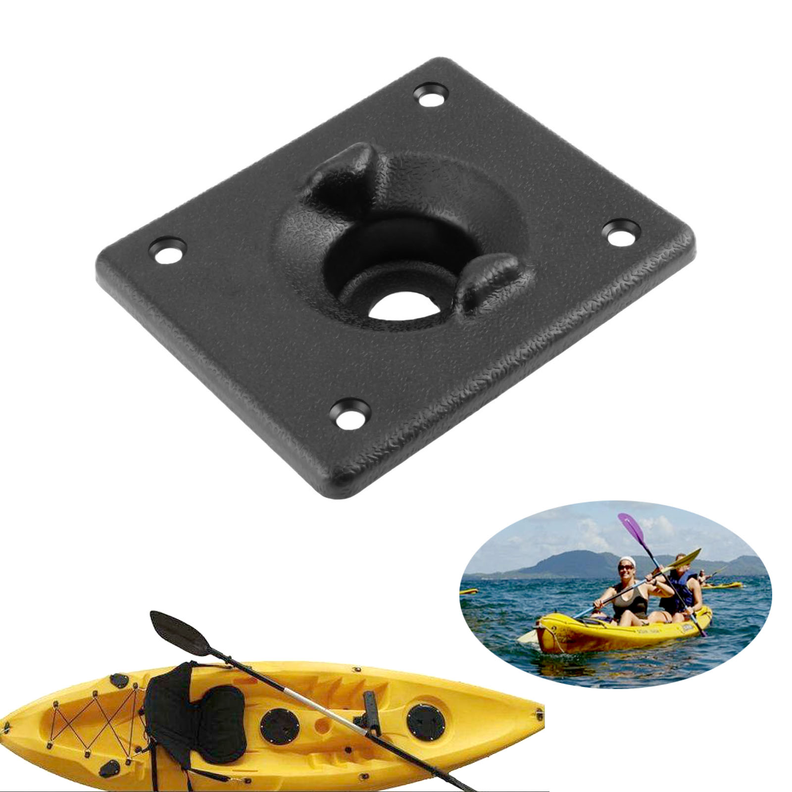 Strong Stainless Steel Kayak Canoe Boat Rudder Control System Mount Base Kit