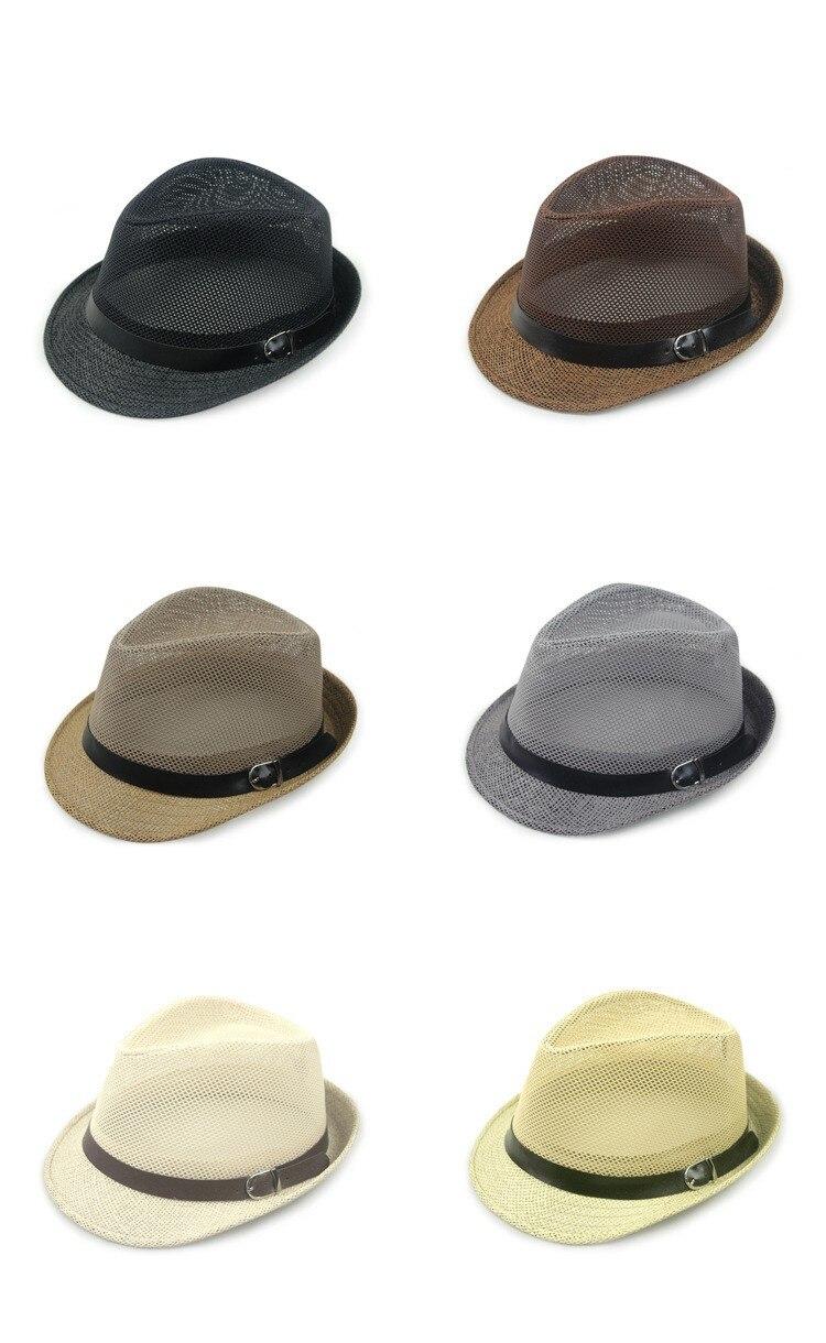 Kagenmo дышащая сетка ремень пряжка летняя соломенная мужская шляпа Корейская пляжная соломенная шляпа женская шляпа солнцезащитный козырек крутая 6 цветов 1 шт