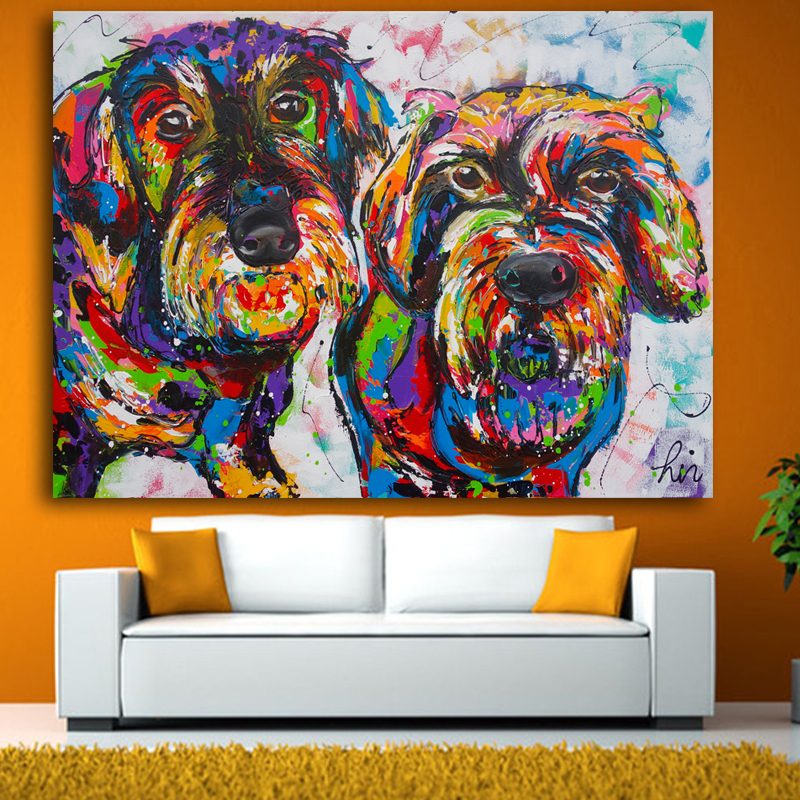 Graffiti Bedroom Art Paint Colors For Bedroom Youth Bedroom Sets Simple Little Boy Bedroom Ideas: Canvas Graffiti Painting Animal Dachshund Dog Canvas