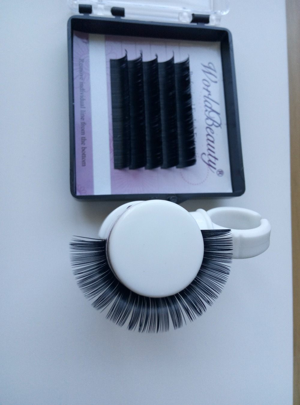 Fashion gift! queen style! 5 tray/lot ,5 lines/tray Black color T type Matt Flat Eyelash Extension thickness 0.10/0.15/0.20mm