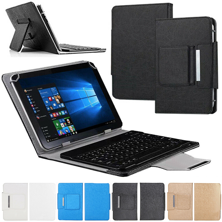<font><b>10</b></font>'' Universal Wireless Keyboard Case Cover for 9.7 <font><b>10</b></font> <font><b>10</b></font>.1 inch <font><b>Tablet</b></font> <font><b>PC</b></font> for iPad <font><b>Android</b></font> <font><b>Tablet</b></font> Stand Cover With Keyboard image