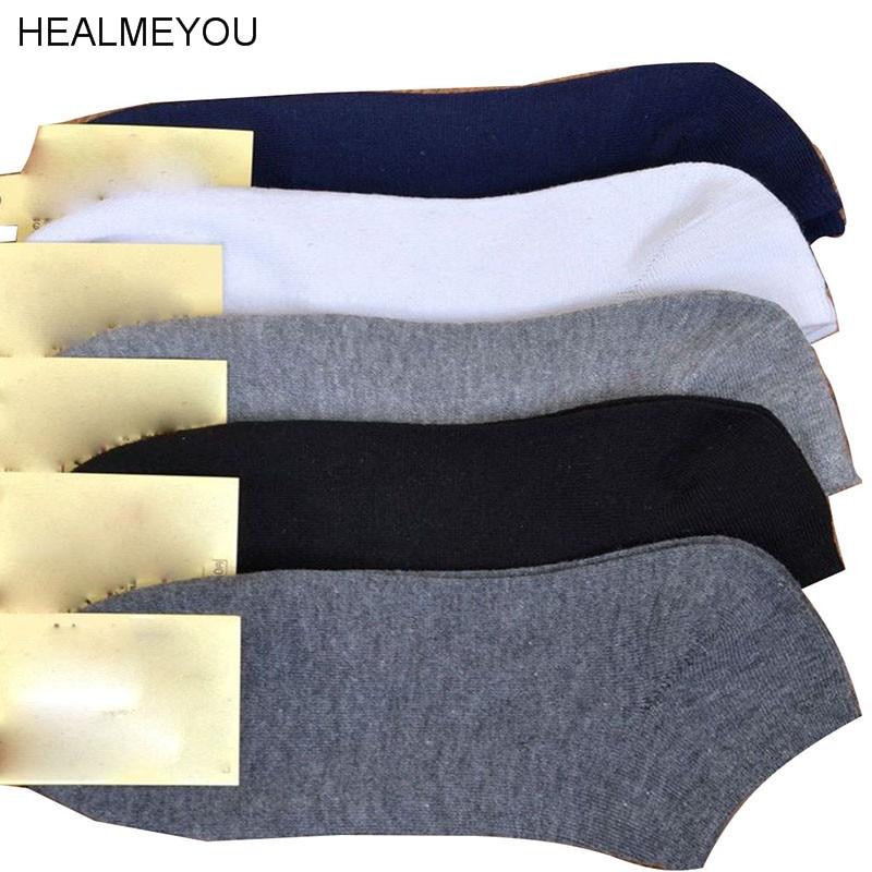 Wholesale Men Low Cut Ankle Quarter Crew Socks Black White Gray