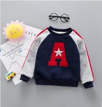 Letter Print Kids Clothes 2019 Autumn Winter Fashion Casual Baby Boys Girls Clothes Plus Velvet Children Outwear SY-F185001