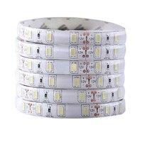 2x5 м 1,5 12 В 300 светодиодов 5630 SMD Водонепроницаемый светодиодные полосы света лампы Ultra Bright White пластик-20 до 50 по Цельсию Рабочая