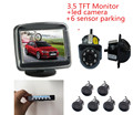 3in1 Video Parking Assistance Sensor Backup Radar With Rear View Camera + 3.5inch LCD Car Rearview Mirror Monitor Video Parking