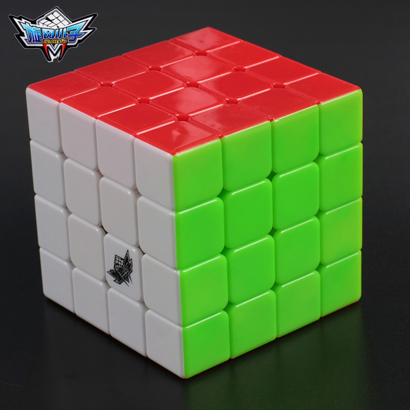 4x4x4 Cyclone Boys Magic Cube Puzzle Cubes Speed ​​Cubo Square Puslespill No Sticker Rainbow Gaver Educational Leker for barn
