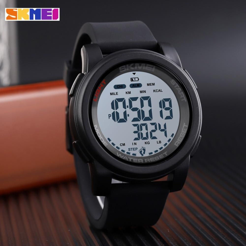 SKMEI Sport Watch Men Digital Watch Calorie 5Bar Waterproof Week Display Silicone Strap Digital Watches relogio masculino 1469