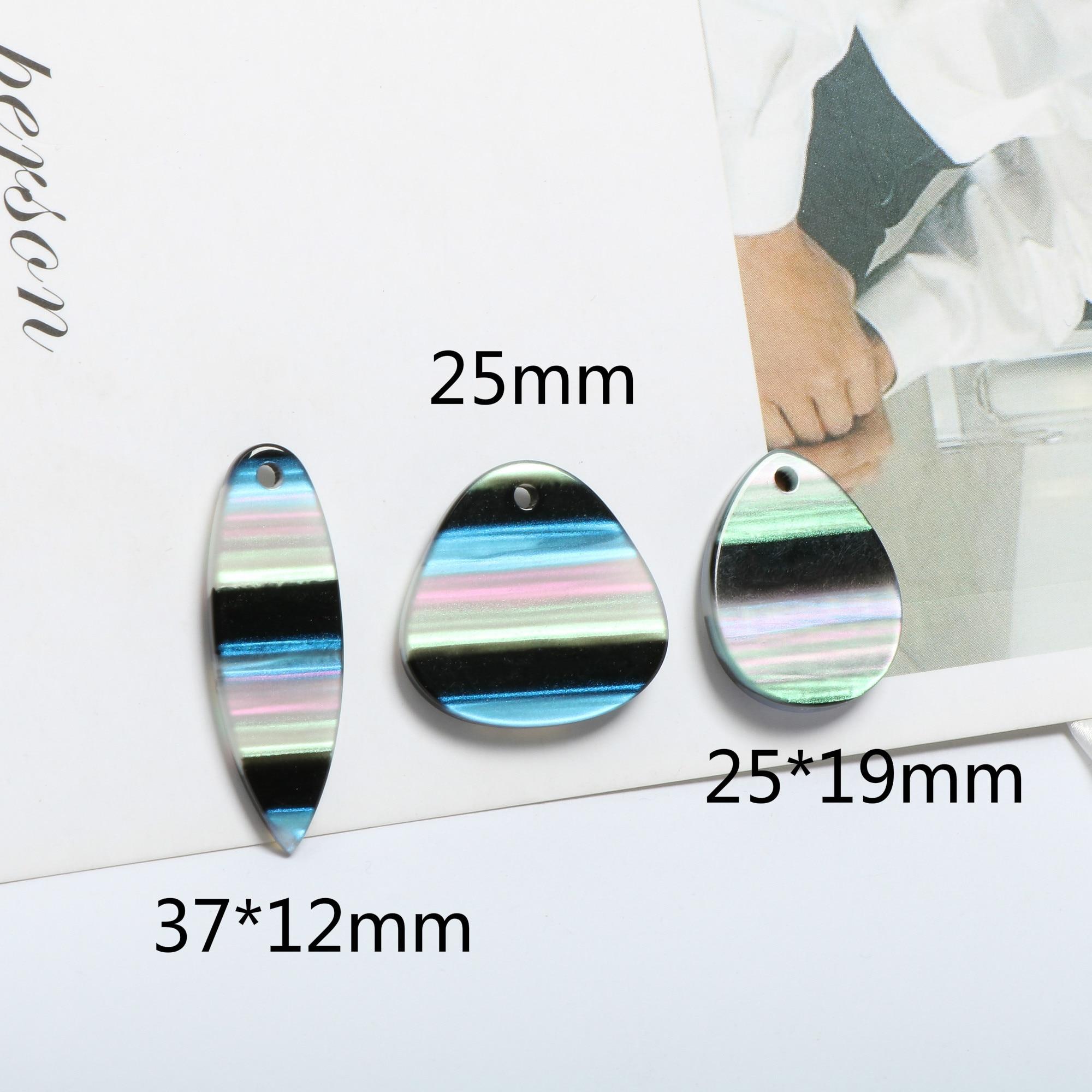 plate striped phantom color droplet leaf resin acetic acid pendant DIY handmade pendants jewelry Earrings Accessories Material in Jewelry Findings Components from Jewelry Accessories