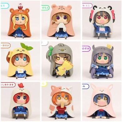 NEW hot 8 cm 9 pz/set Himouto! Umaru-chan Himouto Umaru chan cosplay love live collezionisti di giocattoli figure regalo Di anime himouto umaru chan umaru doma casual dance pants lovely fashion school backpacks for girls canvas