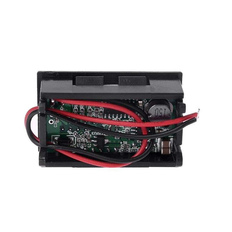 Red LED Digital Display Voltmeter Mini Voltage Meter Battery Tester Panel For DC 12V Cars Motorcycles Red LED Digital Display Voltmeter Mini Voltage Meter Battery Tester Panel For DC 12V Cars Motorcycles Vehicles USB 5V2A output