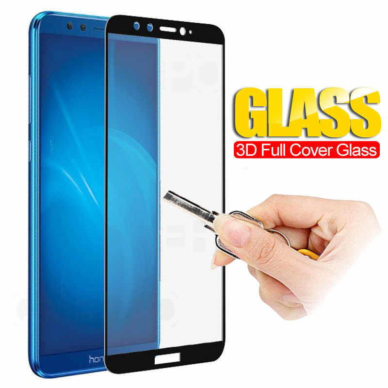 Protective Glass on the For Huawei Honor 8 9 10 V9 Play V10 Tempered Screen Protector 3D Edge Glass Honor 8 9 Lite 10 Lite Film