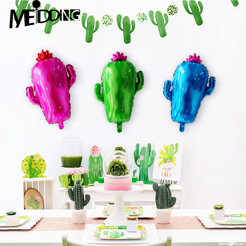US $1 65 22% OFF|MEIDDING Cactus Balloon Fiesta Party Decorations Desert  Birthday Decor Kids Toys Mexican Birthday Party Supplies Taco bout party-in