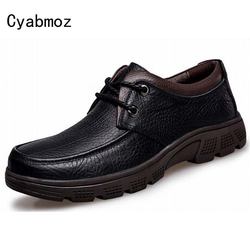 high quality men genuine leather shoes casual men formal shoes wear-resistant waterproof oxford shoes for men big size warm shoe wear resistant casual men backpack