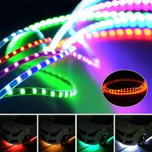 Waterproof Car Auto Decorative Flexible LED Strip Light 12V 45cm/90cm Car LED Daytime Running Light Car LED Strip Light DRL(China)