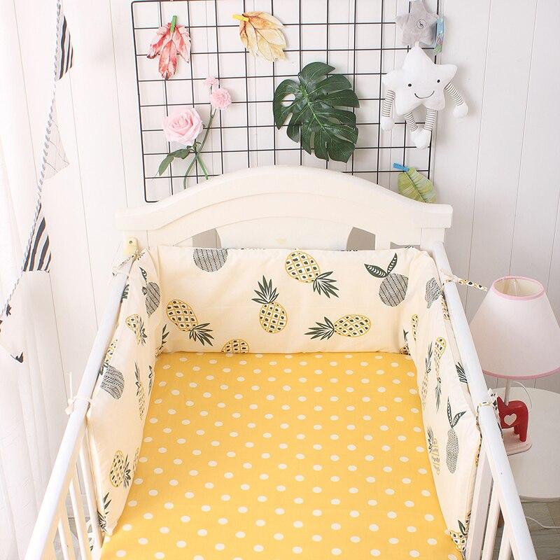 707baf145 180 cm * 30 cm Cute Cartoon Baby cama Bumpers algodón transpirable cuna  parachoques almohadillas de ...