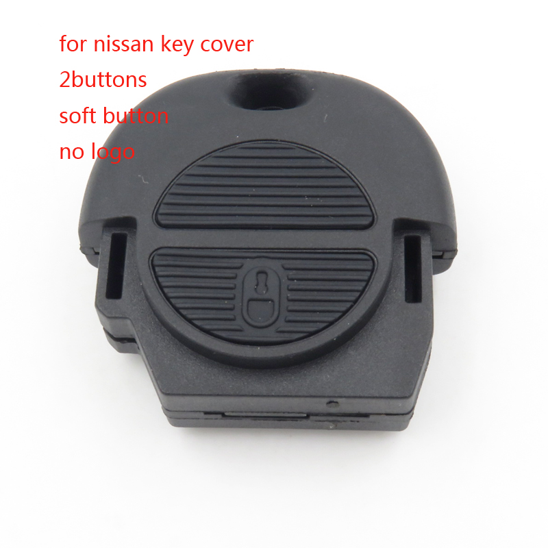 For Nissan Remote Key Shell Soft Button For Nissan Pulsar Patrol Blank Auto Replacement Parts Head Car Key NO LOGO Cocolockey