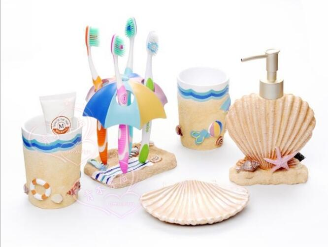 High-quality Resin Marine Style Bathroom Suite Home Bathroom Storage Tools Decorations 0921