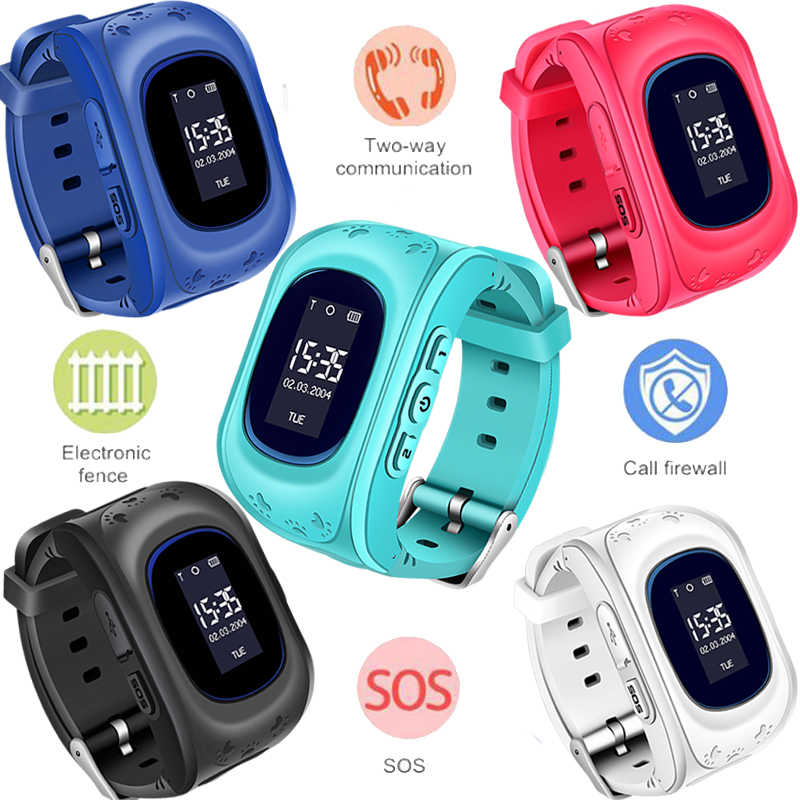 LIGE New Smart Watch Sport Children pedometer Positioning Watch GPS Track SIM Card SOS Call Kid Smart watches for Son Gift+Box