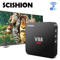 2016 V88 4K Smart TV Box RK 3229 1G 8G 4 USB 10 Bit 60fps WiFi