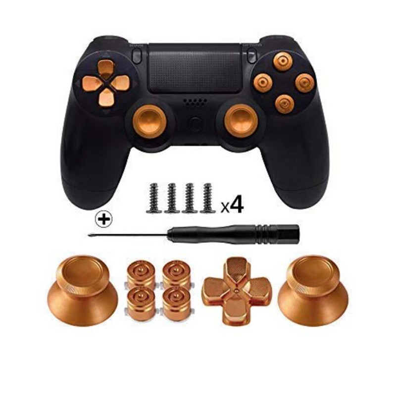 metal-buttons-for-sony-font-b-playstation-b-font-4-aluminum-metal-thumbsticks-analog-grip-bullet-buttons-d-pad-for-ps4-controller-ps-4