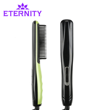 Cheap price Fast Hot Combs Electric Fast Hair Straightener Comb Iron Professional Hair Styling Tool ETA5639