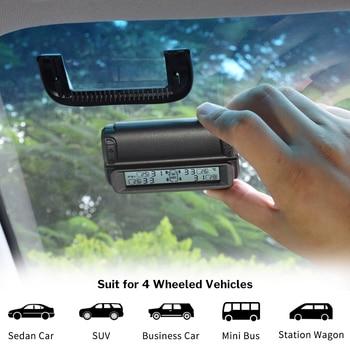Deelife Smart TPMS Car Tire Pressure Monitoring System Solar Power Digital LCD Display Auto Alarm Wireless Tyre Pressure Sensor