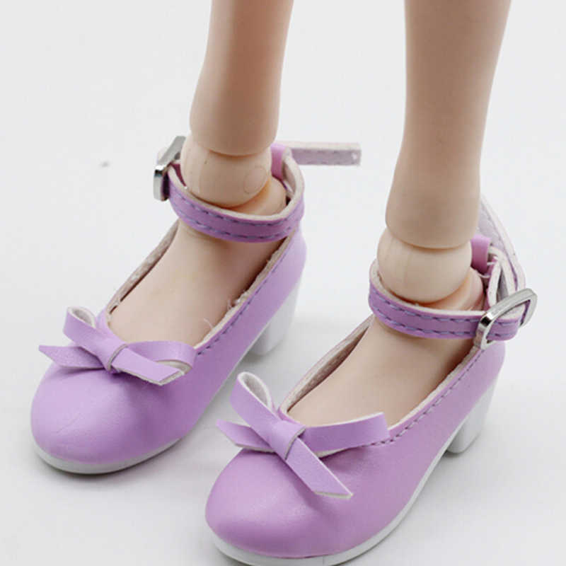 1 par 7,8 cm 1/3 muñecas zapatos de cuero PU para 16 pulgadas 60cm BJD SD muñecas zapatos de moda