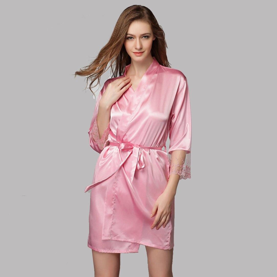 Sexy Lace Robe otoño albornoces ropa de noche larga sin mangas noche ...